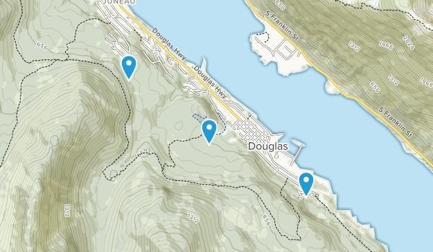 Douglas, Alaska Map