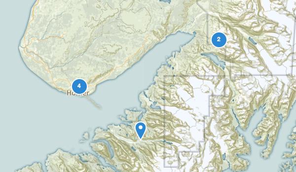 trail locations for Homer, Alaska