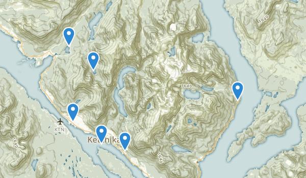 trail locations for Ketchikan, Alaska