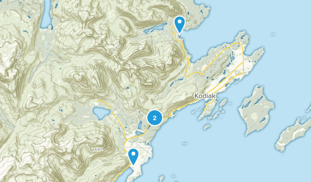 Kodiak Station, Alaska Map