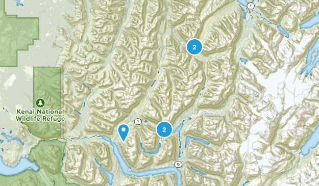 Moose Pass, Alaska Map
