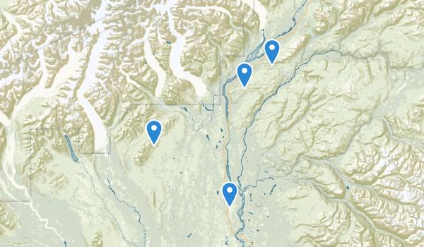 trail locations for Trapper Creek, Alaska