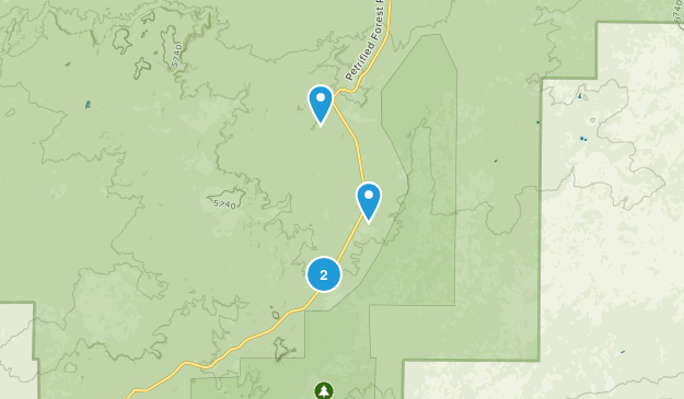 Adamana, Arizona Map
