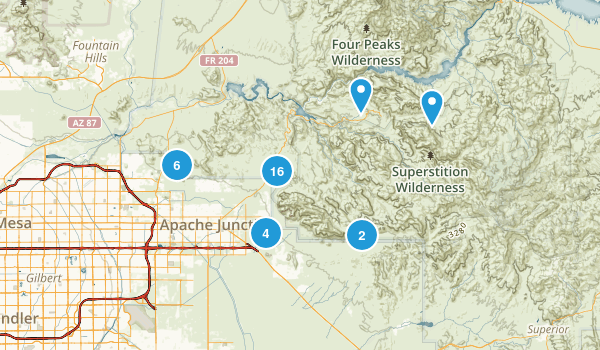 apache junction arizona map