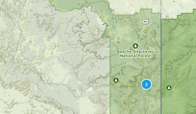 Blue, Arizona Map