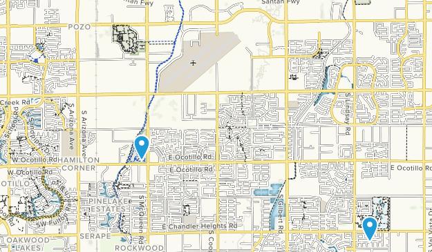 Chandler, Arizona Map