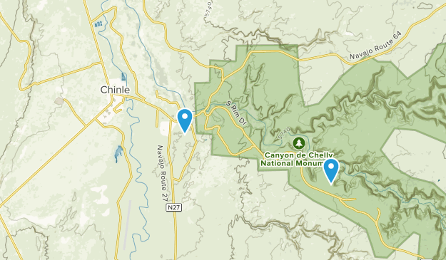 Chinle, Arizona Map