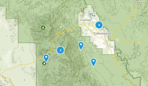 Cottonwood, Arizona Map