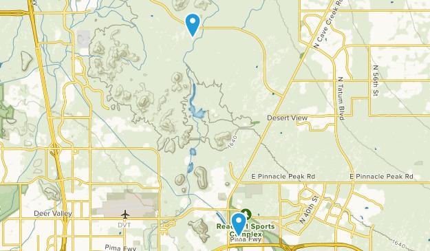 Desert View, Arizona Map