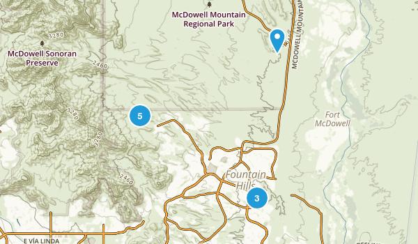 Fountain Hills, Arizona Map