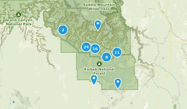 Map Of Arizona Including Grand Canyon.Best Trails Near Grand Canyon Arizona Alltrails