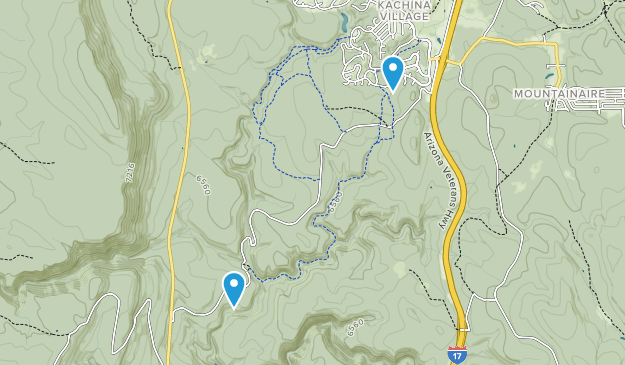 Kachina Village, Arizona Map