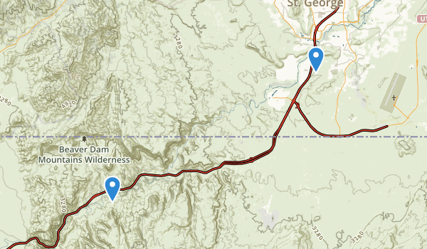 trail locations for Littlefield, Arizona