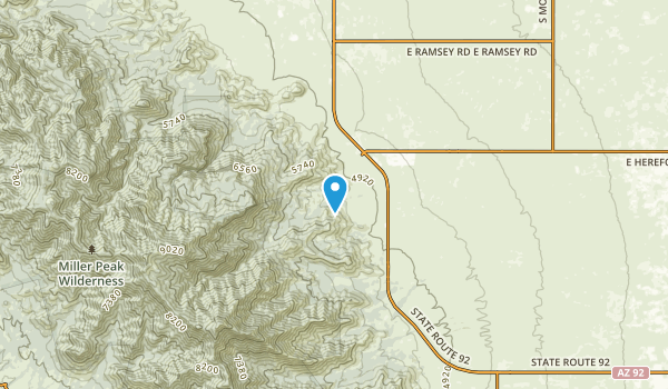Nicksville, Arizona Map