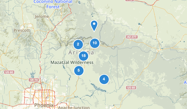 trail locations for Payson, Arizona