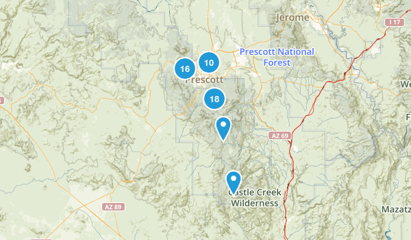 Prescott, Arizona Map