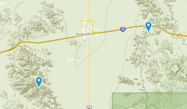 Quartzsite, Arizona Map