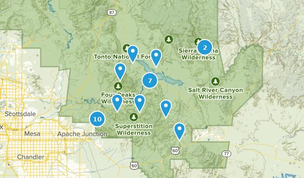 Roosevelt, Arizona Map