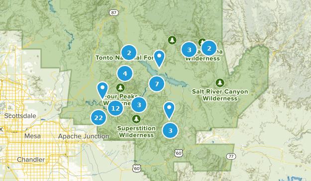 Map Of Arizona Indian Ruins.Best Trails Near Roosevelt Arizona Alltrails