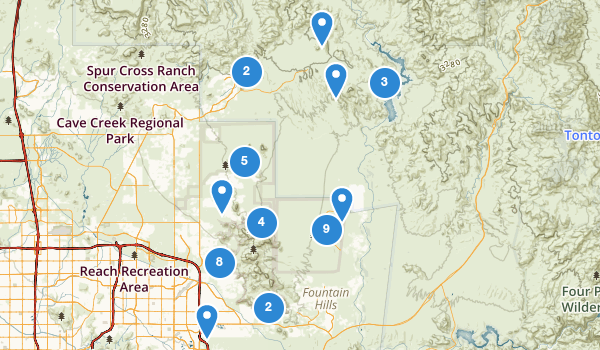 trail locations for Scottsdale, Arizona