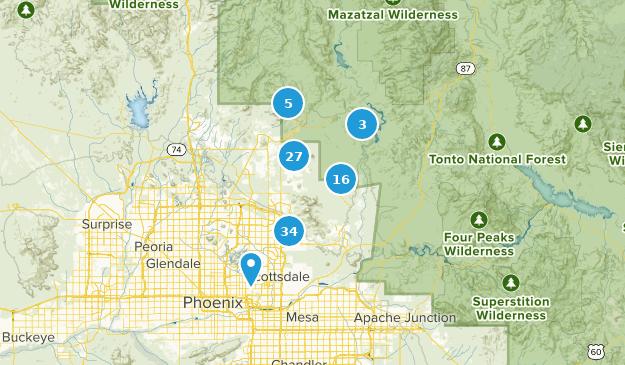 Map Of Arizona Scottsdale.Map Of Trails Near Scottsdale Arizona Alltrails