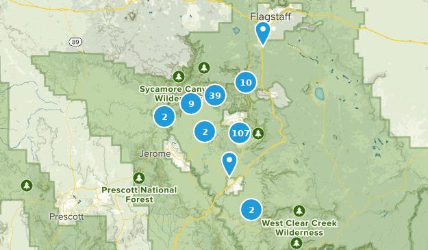 Map Of Arizona Including Sedona.Map Of Trails Near Sedona Arizona Alltrails
