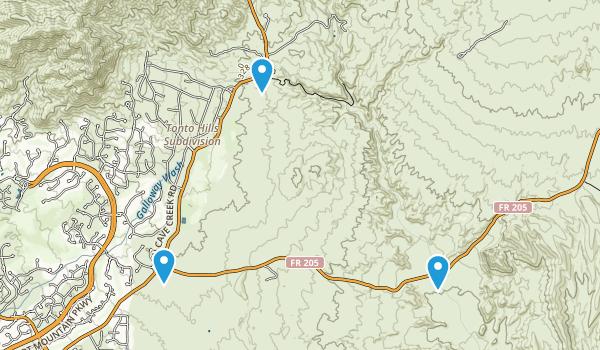 Tonto Hills Subdivision, Arizona Map