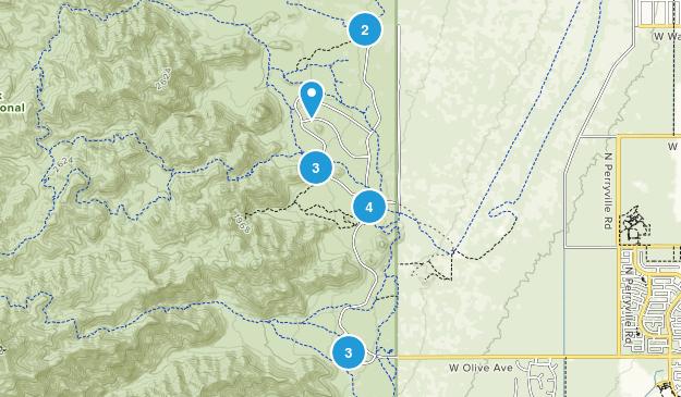 Waddell, Arizona Map