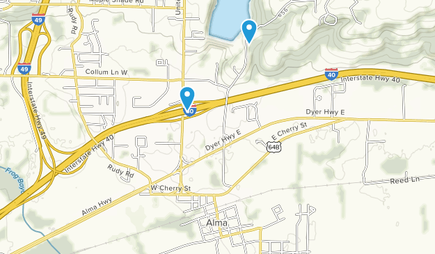 Alma, Arkansas Map