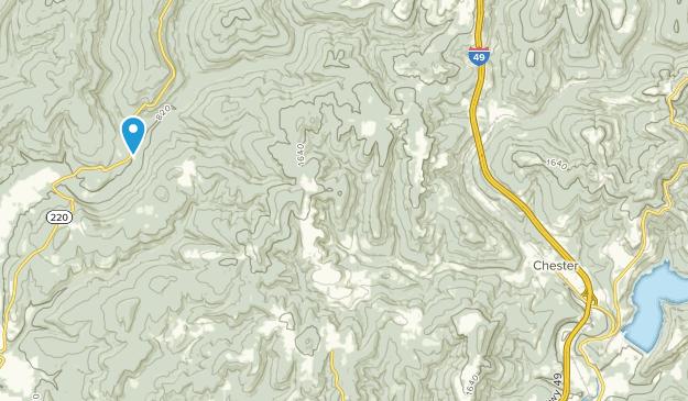 Chester, Arkansas Map