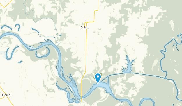 Gillett, Arkansas Map