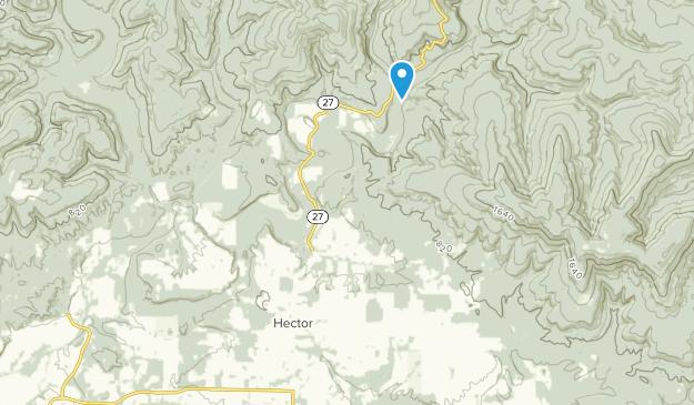 Hector, Arkansas Map