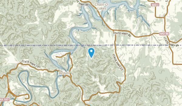 Holiday Island, Arkansas Map