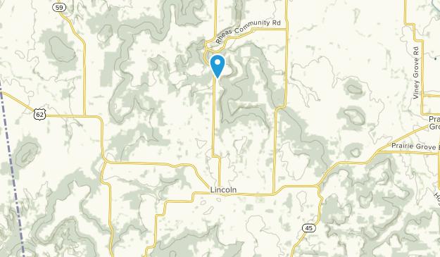 Lincoln, Arkansas Map