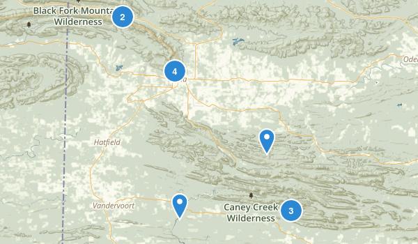 Mena, Arkansas Map