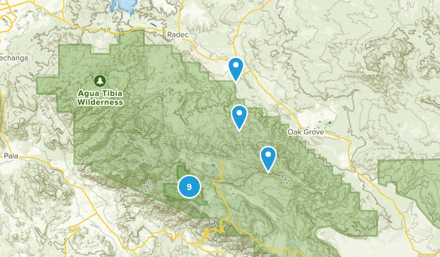 Aguanga, California Map