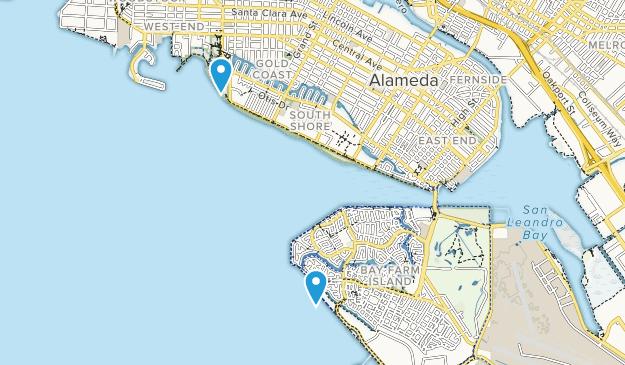 Alameda, California Map