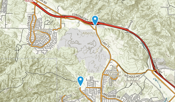 Alberhill, California Map