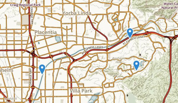 Anaheim, California Map