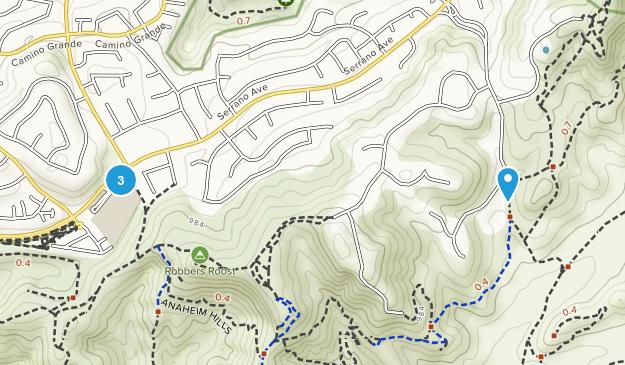 Anaheim Hills, California Map