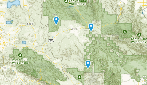 Anza, California Map