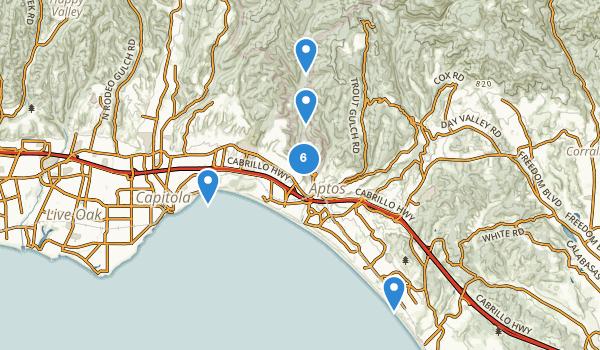 trail locations for Aptos, California