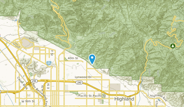 Arrowhead Springs, California Map