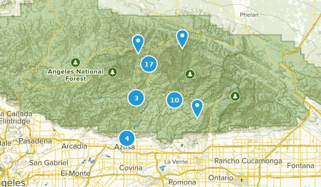 Azusa, California Map