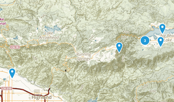 Big Bear Lake, California Map