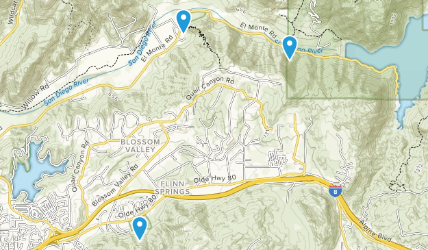 Blossom Valley, California Map