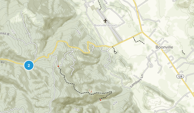 Boonville, California Map