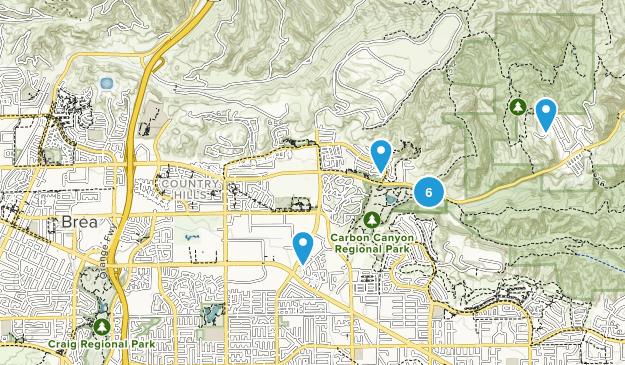 Brea, Kalifornien Map