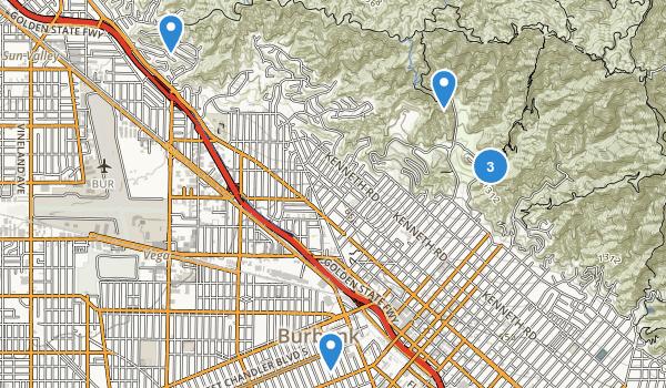 Burbank, California Map