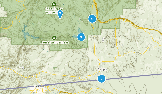 Campo, California Map